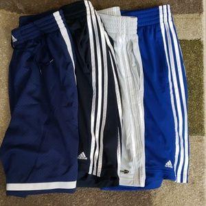 5 pack Adidas bball shorts